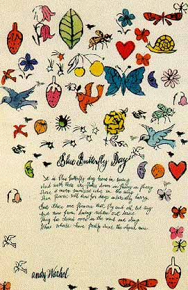 Blue butterfly day poem